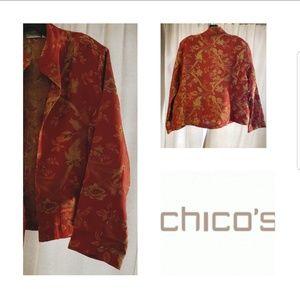 Chinoiserie silk blend jacket sz2